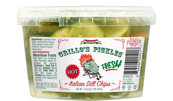 Grillo's Pickles - Hot Italian Dill Chips