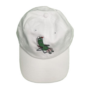 White Pickle Guy Dad Cap